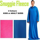 Snuggle Fleece Adult Unisex Super Soft Warm Cuddle Blanket Sleeves Wrap Snug New