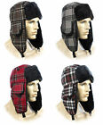 FASHION TRAPPER Mens Womens Ladies Faux Fur Lined Warm Cosy Winter Hat Checked