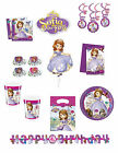 SOFIA THE FIRST PARTY ITEMS ALL IN THIS LISTING, Plates, Swirls, Cups, Balloons