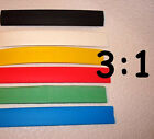 "1/2"" ID 3:1 Heat Shrink Tubing - 4ft, 10ft, 25ft - choose color and length"