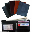 Genuine Eel Skin Leather Billfold Wallet Men's Standard Purse (5 Color)