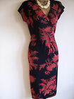 MONSOON KHAN Terracotta floral wrap style dress sz8,10,,12,14,16,18,RRP £55