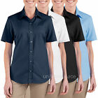 Women's Shirts Dickies Oxford Short Sleeve Stretch Poplin Work Shirt FS038 Color