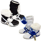 Kids Winter Snow Boots Girls Boys Fold Down Warm Trainers Shoes Size UK10 To UK2