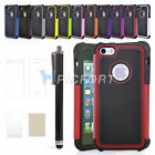 Pen +Combo Rugged Rubber Matte Hard Case Cover For iPhone5 5S 6th Screen Protect
