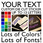 Your Name Sticker - Personalized Vinyl Decal - Die Cut Your Text