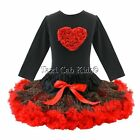 Pettiskirt Tutu Set Valentines Day Sweetheart Birthday Pageant NWT Sz 1-6/7 Yr