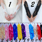 New Sexy Bride Party Dress Fingerless Pearl Lace Bridal Wedding Gloves Costume