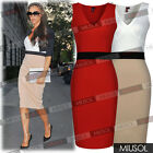 Ladies Red Celebrity Cocktail Party Wedding Bodycon Pencil Dresses Size 68101214