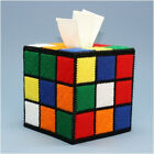 Rubiks Cube Tissue Box Covers,  Big Bang Theory Rubiks Cube,  Hand Made in the USA