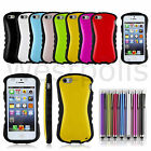 PC Rubber Hybrid Hard Rugged Heavy Duty Shockproof Case Cover For iPhone 5 5S S