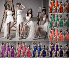 Bridesmaid Party Dresses Prom Gown Formal Evening Dress Shiny Belt Size 6-26 P&P