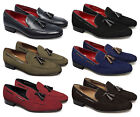 Monk RAVENNA II Mens Suede Nappa Leather Quality Tassel Driving Loafers Shoes