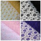 Budget Flower Lace - Design 2 - Various Colours *Per Metre