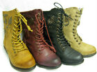 LADIES MILITARY STYLE ZIP/LACE UP BOOTS (SPOT ON F50171)