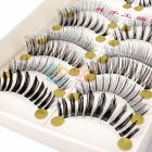 10 Pair Fashion Differ Style Natural Long False Eyelashes Eye Lash Makeup DBUS