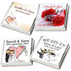50 Personalised Chocolate  Favours -2017 DESIGNS - Huge Selection FAST FREE POST