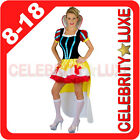 New Ladies Snow White Fairy Tale Long Fancy Dress Up Costume Cartoon Gown Tutu