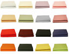 Polycotton Plain Dyed Valance Fitted Sheet Single, Double, King, Super King