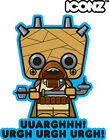 ICONZ CARTOON TEE SHIRT STAR WARS A NEW HOPE TUSKEN RAIDER LUKE SKYWALKER