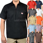 Ben Davis Short Sleeve Shirts POCKETS Stripe, Solid color half zipper shirts