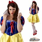 Ladies Snow White Costume Fairytale Princess Fancy Dress Book Day Sizes 10-16
