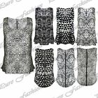 Womens Baggy Sleeveless Zip Animal Leopard Print LadiesTank Vest T Shirt Top