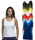 Womens Ladies Cotton BLACK or WHITE Tank Top Vest Singlet