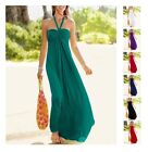 Beautiful Long Beach Summer Maxi Dress Cover up Boob Tube Strapless Halter neck