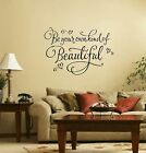be your own kind of beautiful Livingroom romantic Wall Art Decal Sticker