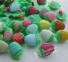 100/300x Strawberry Plastic Buttons For Kid's Sewing Notions Crafts Lots NK054