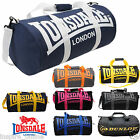 MENS LADIES LONSDALE BARREL RETRO GYM SPORT WEEKEND TRAVEL HOLLDALL SHOULDER BAG