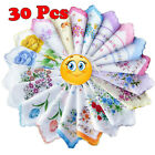 5/10/15/20/25/30/35 PCs Ladies' Vintage Cotton Flower Embroidered Handkerchiefs