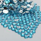 light blue  sparkling Resin Rhinestone Flatback Crystal 2/3/4/5/6MM 14 Facets