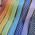 GINGHAM 25mm POLY/COTTON BIAS BINDING TAPE ♥ CHOICE OF COLOURS
