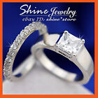 9K GOLD GF R291 SQUARE 3CT solitaire DIAMOND SOLID VICTORIAN CLASSIC RINGS SETS