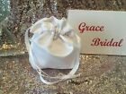 WHITE DUCHESS SATIN DOLLY BAG IDEAL FOR HOLY COMMUNION OR BRIDESMAID BNIP