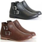 WOMENS LADIES ANKLE BOOTS PIXIE VINTAGE STYLE WINTER CHELSEA LOW HEEL SHORT FLAT