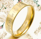UK Lord of The Rings 18K Gold Filled  Wedding Titanium Rings 057A4