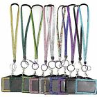 RHINESTONE CRYSTAL STRAP  LANYARD AND ID BADGE  HOLDER FOR PHOTO ID CARDS