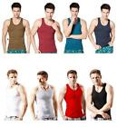 Cotton Mens Casual Ribbed Tank Top Undershirt Underwear Wife Beater Vest A-Shirt