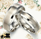 Groom Bride Silver  Wedding Rings UK1094AU1