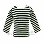 Halloween PettiTop Long Sleeve Striped NWT Size 1 - 9 Yr Matches TCK Pettiskirts