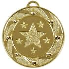 50mm Star Target Medal with Ribbon and Gift Box Available in 3 Colors