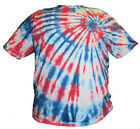 Red  White and Blue Spiral Tie Dye Shirt Adult Sizes