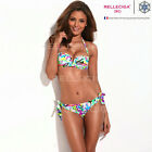 RELLECIGA Sexy Ladies Doodle Print Ties Bikini Push-up Bra Bandeau Swimwear Sets