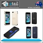 id America Wall Street Genuine Leather Phone Case & Card Holder for iPhone 5/5S