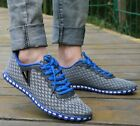Men's Casual Breathable Lace Up Loafers Recreational Athletic Running Shoes A415