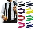 MENS SUSPENDERS BRACES ELASTIC STRONG ADJUSTABLE FORMAL WEDDING MEN'S WOMENS