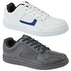 Mens New Black / White & Navy Wide Fitting Lace Up Trainers Sizes UK 6 - UK 12